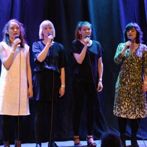 Kraja fr.v. Lisa Lestander, Frida Johansson, Linnea Nilsson & Eva Lestander