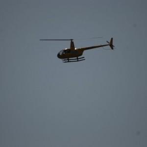 Helikoptern lämnar stämman